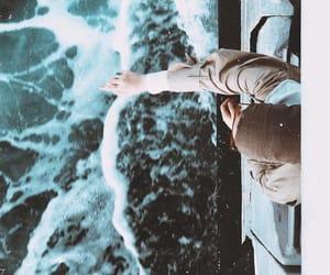 boat, hijab, and ocean image