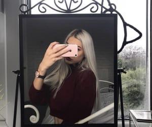 fashion, hair, and mirror image
