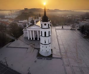 church, city, and Lithuania image