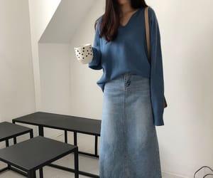 asian fashion, casual, and winter fashion image