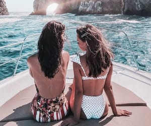 girl, friendship, and style image