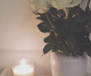 autumn, candle, and flowers image