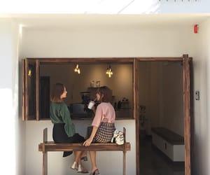 aesthetic, girl, and coffee image