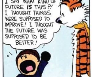 art, calvin and hobbes, and comic image