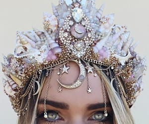 crown, eyes, and beauty image