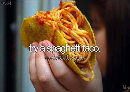 Try A Spaghetti Taco Discovered By Bambi On We Heart It