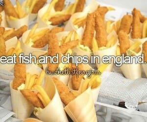 fish and chips and england image