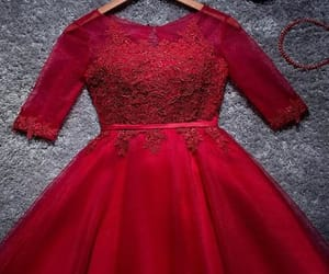 red homecoming dress and a-line homecoming dress image