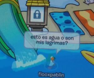 blue, water, and club penguin image