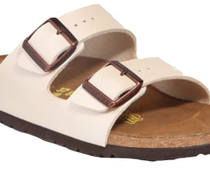 birkenstock, brown, and shoes image