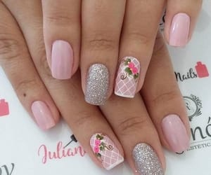 flores, girly, and manicure image