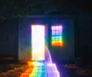colorful lights, tumblr, and rainbow colors image