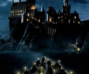 hogwarts, harry potter, and boat image