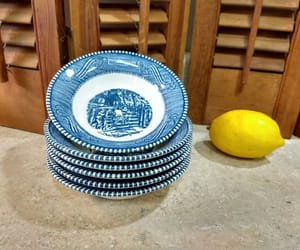 etsy, currier and ives, and blue plates image