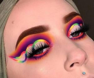 blue, eyebrows, and eyelashes image