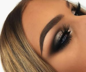 black, eyeshadow, and silver image