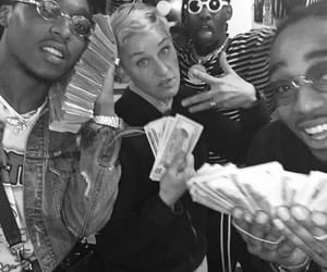 ellen, migos, and money image