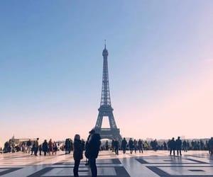 beautiful, blu, and eiffel tower image