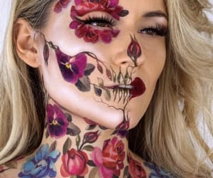 art, drawing, and face paint image