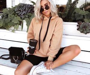 fashion, coffee, and girl image