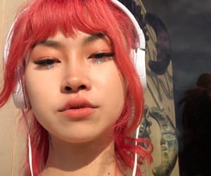 asian, beautiful, and hair dye image