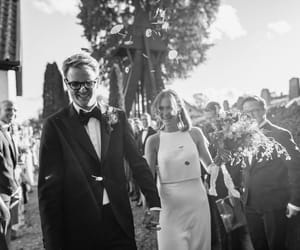 black and white, wedding, and bröllop image