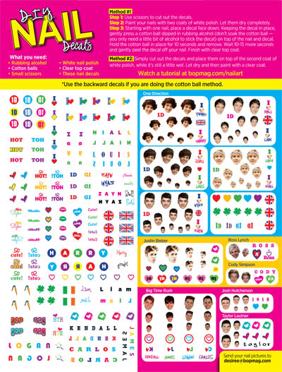 photo regarding Printable Nail Decals named Your How-In the direction of Lead for our Totally free Nail Decals (inside of August BOP