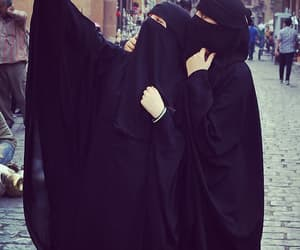 black, islam, and niqab image