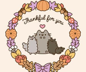 cat, happy thanksgiving, and pusheen image