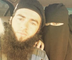 couple, islam, and niqab image