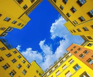 yellow, aesthetic, and blue image