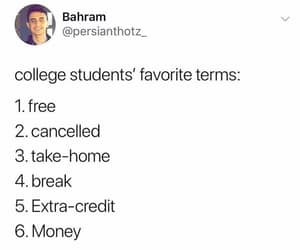broke, cancelled, and college image