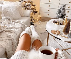 christmas, white, and cozy image