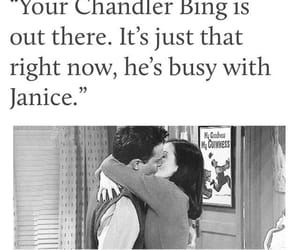chandler bing, funny, and janice image