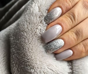 nails, grey, and manicure image