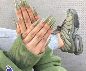 nails, green, and shoes image