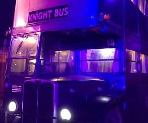 purple, theme, and bus image