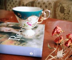 cup of tea, Renoir, and vintage image