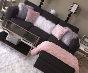 home, pink, and black image