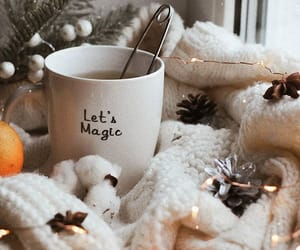 aesthetic, coffee, and fairylights image