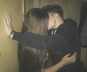 couple, crush, and kissing image