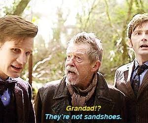 david tennant, doctor who, and john hurt image