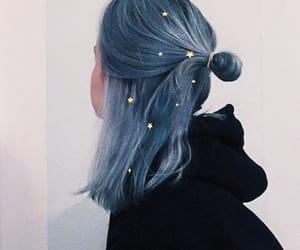 girl, hair, and stars image