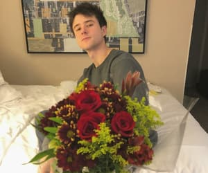 cute boys, flowers, and alec benjamin image