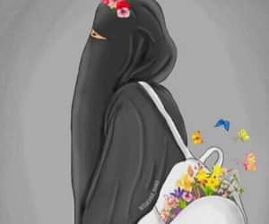 flowers, islam, and muslima image