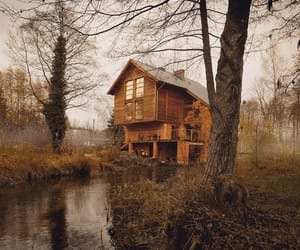 autumn, cottage, and house image