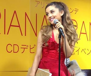 celebrity, red, and ariana grande image