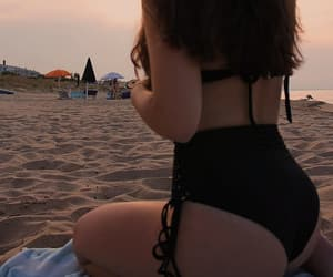 ass, girls, and sea image