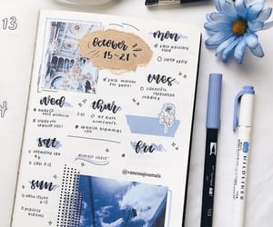 blue, inspiration, and journaling image