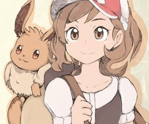 anime, eevee, and game image